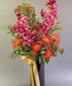 cymbidium Pincushions flower arrangement