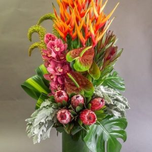 protea flower vase arrangement