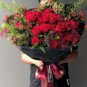 shop large 99 red rose bouquet